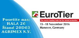 Posetite nas na prestižnom sajmu EURO TIER 2016 na štandu našeg strateškog partnera AGRIMEX B.V. Belgija